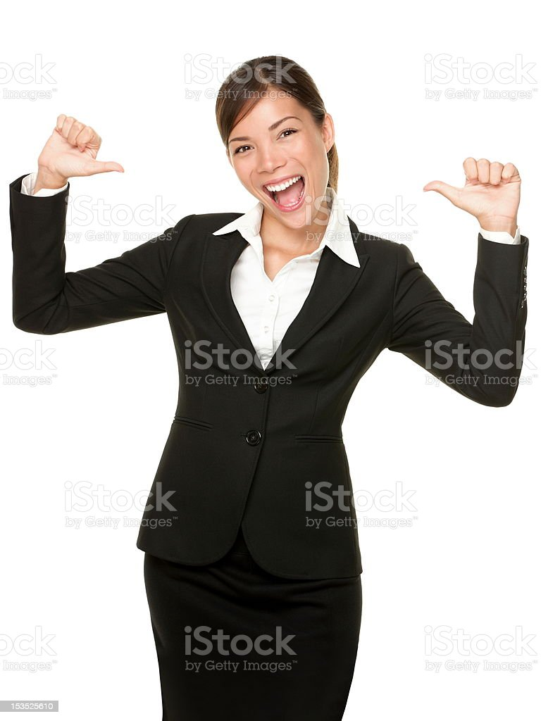 cheerful confident young business woman stock photo