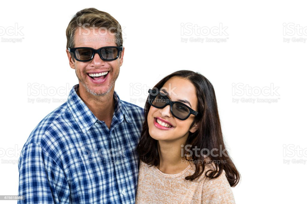 Çift güneş gözlüğü takıyor royalty-free stock photo