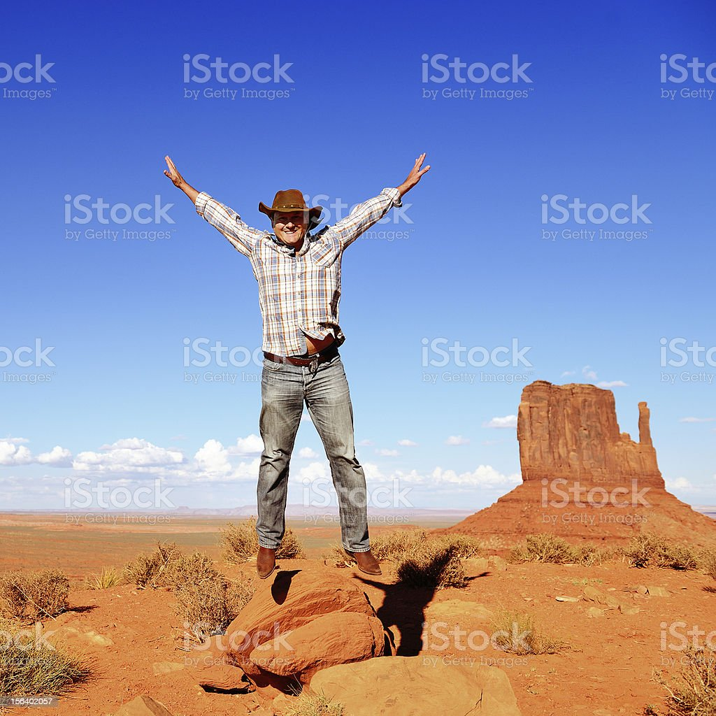 cheerful cow boy royalty-free stock photo
