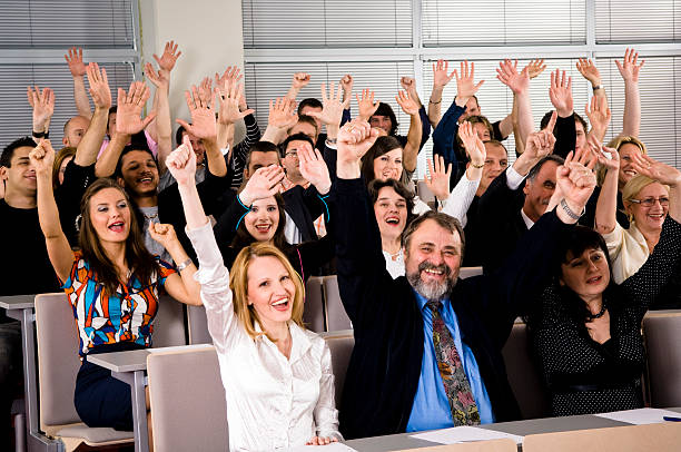 Cheerful Crowd stock photo