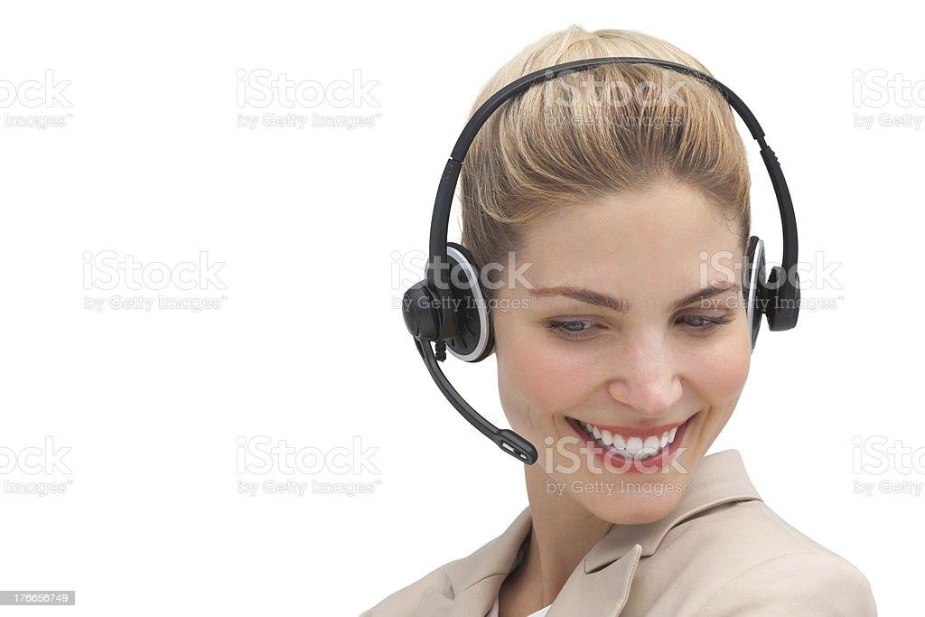 Cheerful customer service agent royalty-free stock photo