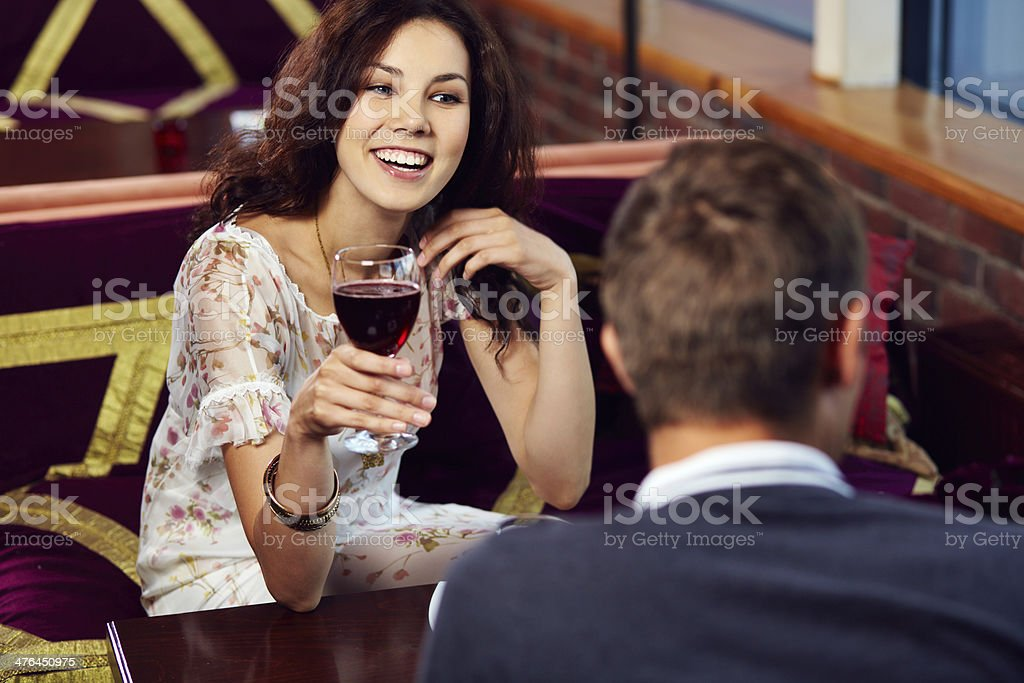 Cheerful dating royalty-free stock photo