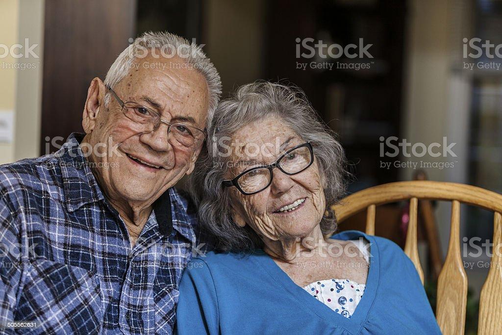 Fröhlich ältere paar Porträt – Foto
