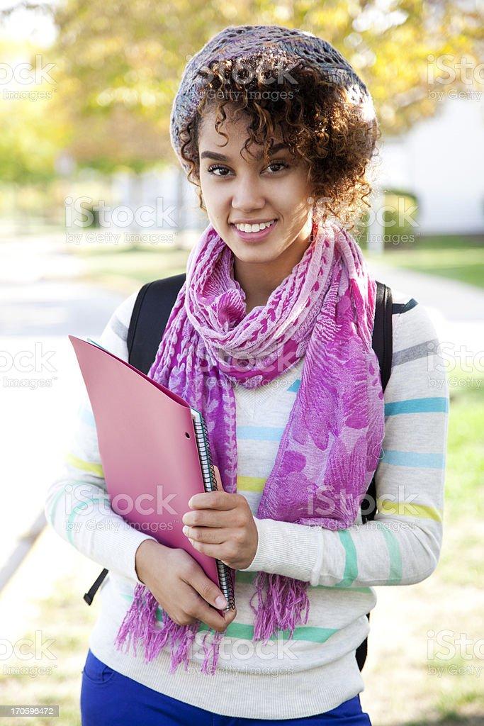 Cheerful ethnic student royalty-free stock photo