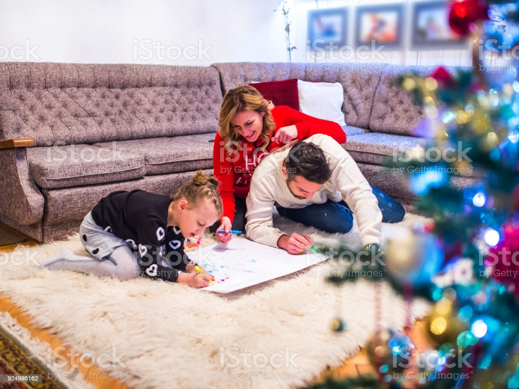 Cheerful Family Coloring Book Stock Photo & More Pictures of 25-29 ...