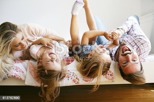 istock Cheerful family. 613762890