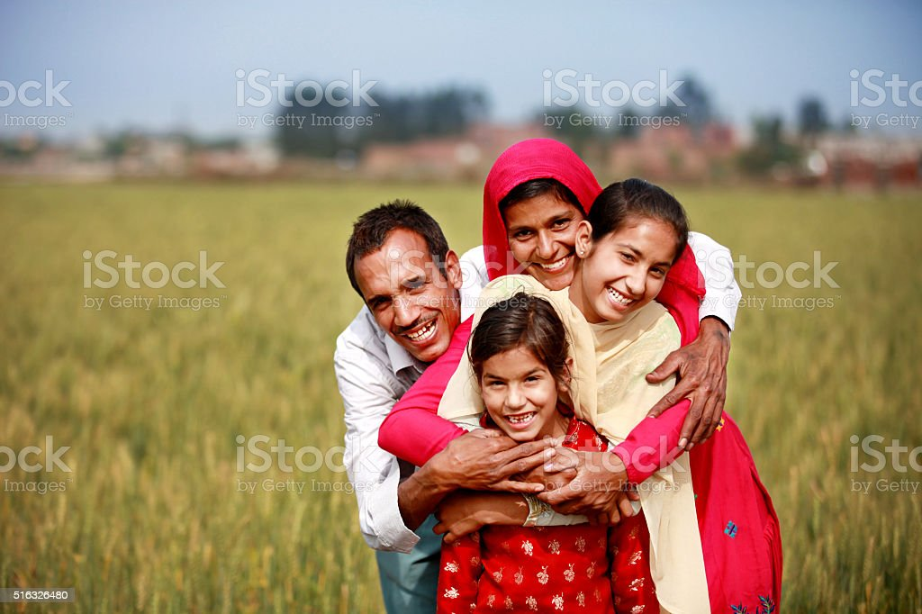 Cheerful family Portrait stock photo