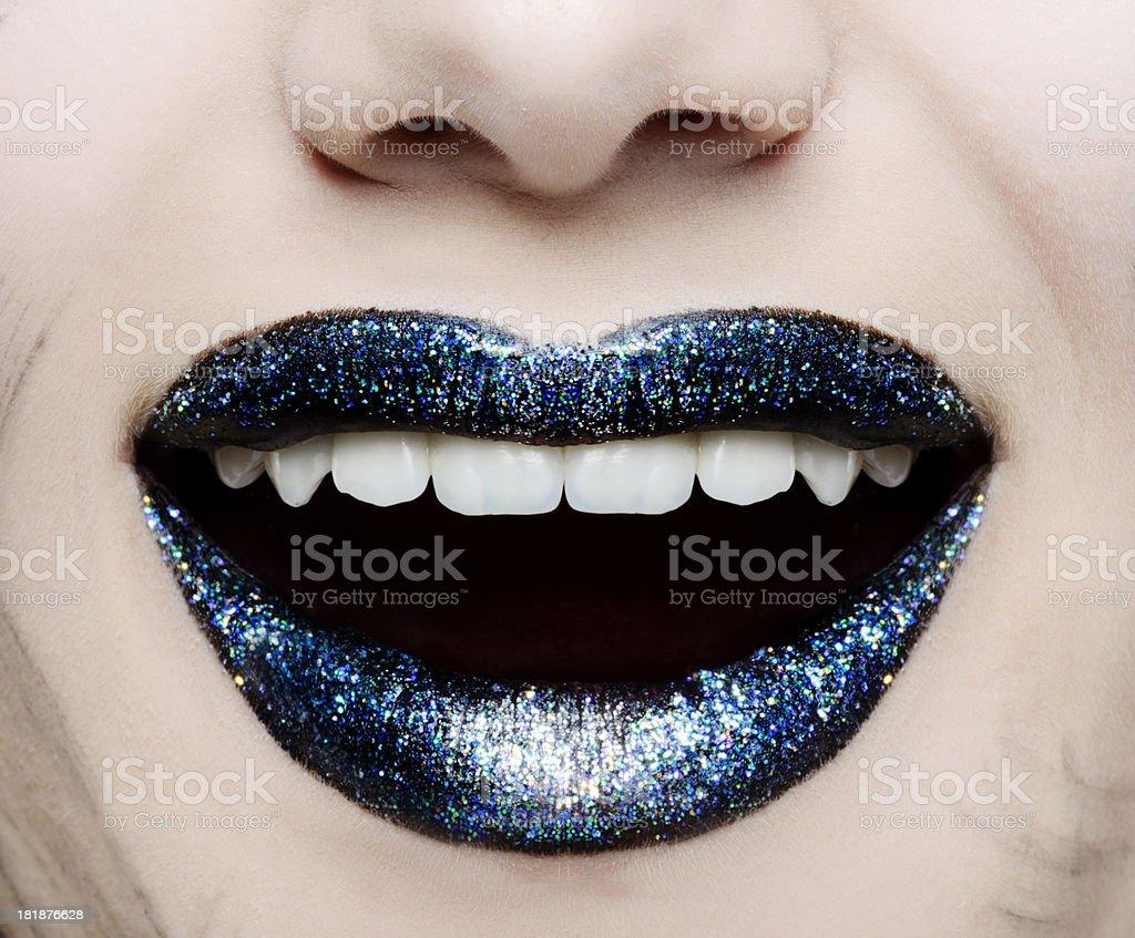 Alegre moda e lábios - foto de acervo