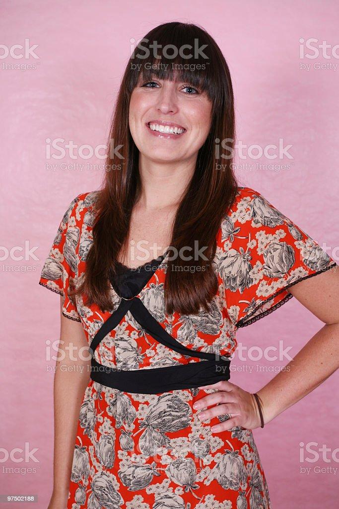 Cheerful female royalty-free stock photo