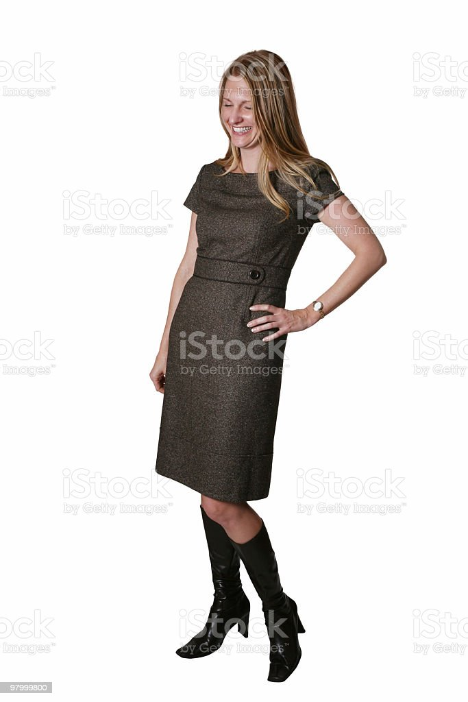 Cheerful female royalty-free stock photo