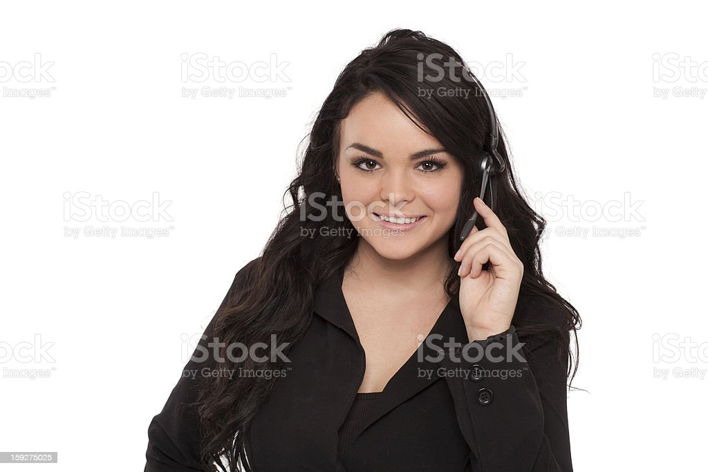 Cheerful Female support consultant royalty-free stock photo