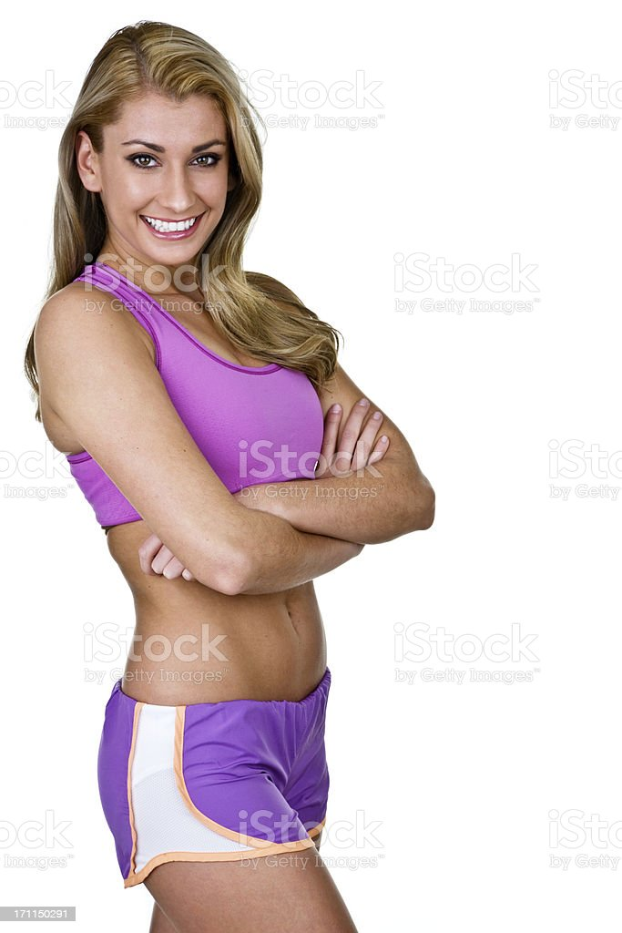 Cheerful fitness girl royalty-free stock photo