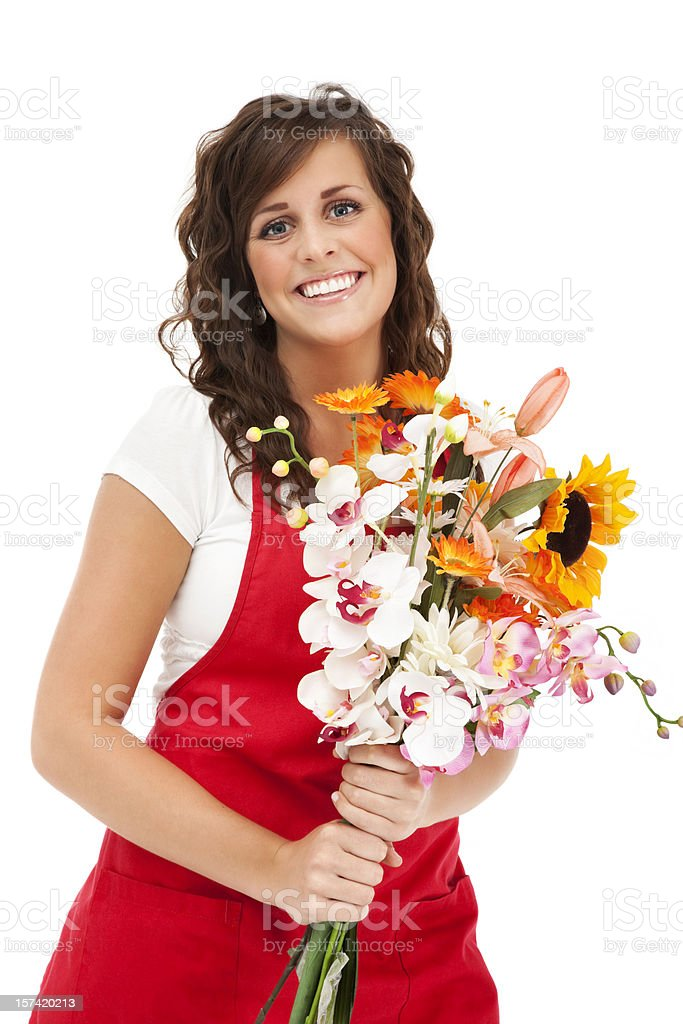 Cheerful Florist royalty-free stock photo