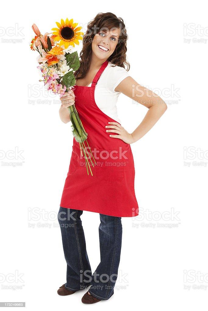 Cheerful Florist royalty-free stock photo
