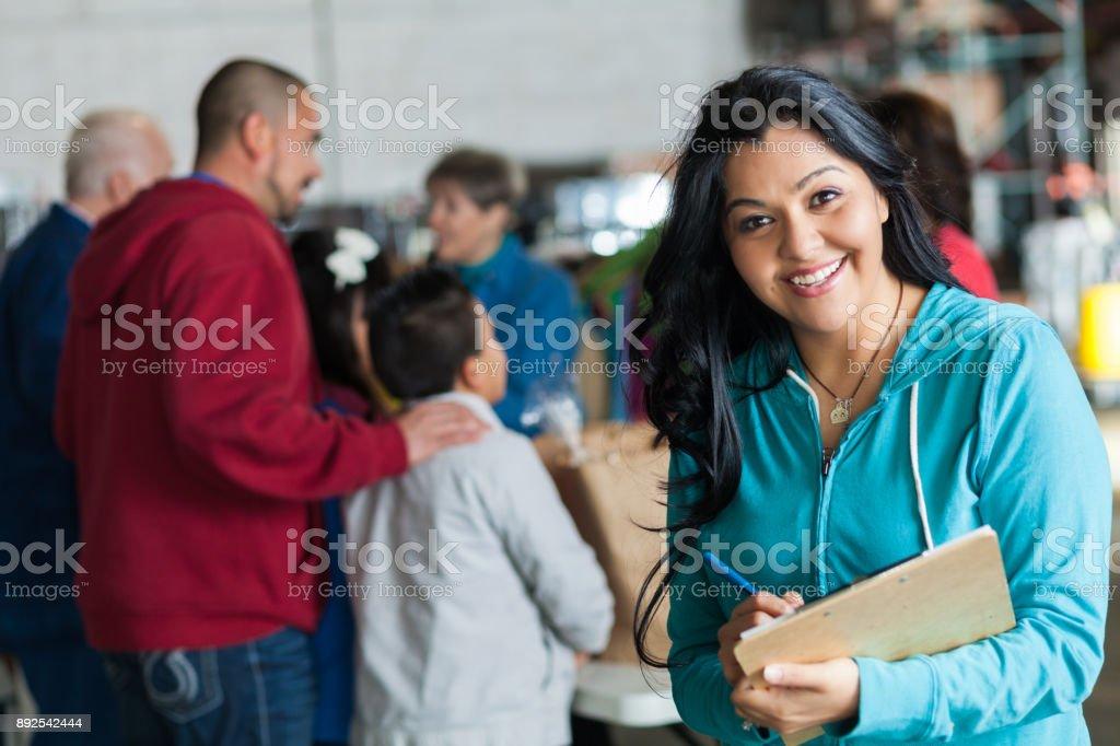 Gerente de unidad de alimentos alegres - foto de stock
