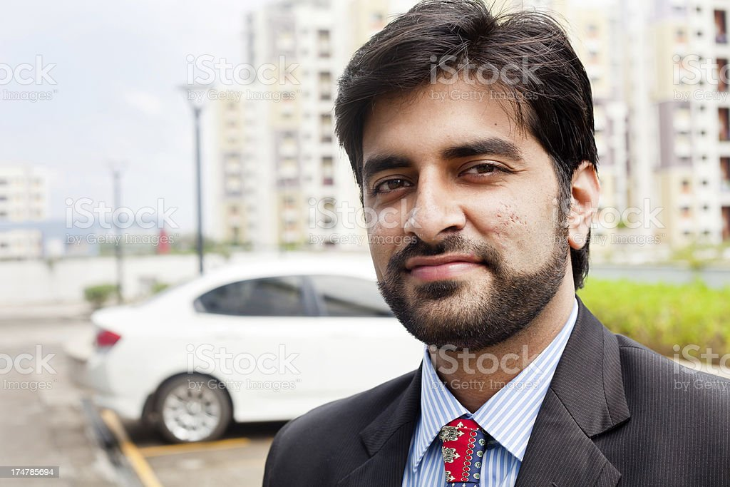 Cheerful friendly Confident Young Indian Businessman royalty-free stock photo