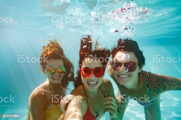 Cheerful friends making selfie underwater in pool picture id934251666?b=1&k=6&m=934251666&s=612x612&h=xvxlbtzitbdifdsfjeoh fohviepaeotcvdnwprgals=