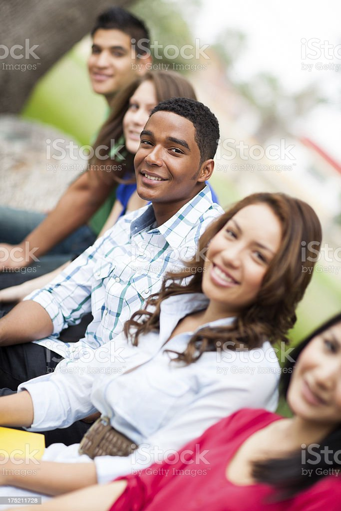 Cheerful friends royalty-free stock photo