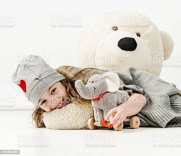 Cheerful girl is hugging elephant toy and huge teddy bear picture id514964881?b=1&k=6&m=514964881&s=612x612&h=mn77bpwjw5kcui58rkdsqq53rppt4n8j3z8k4hgyvfa=