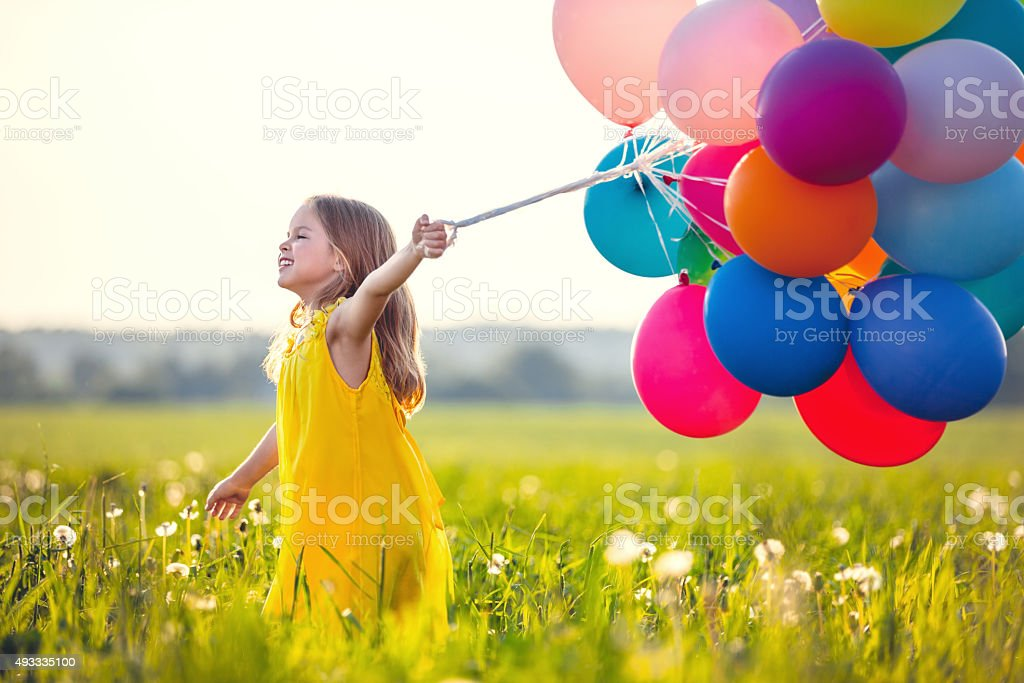 Cheerful girl stock photo