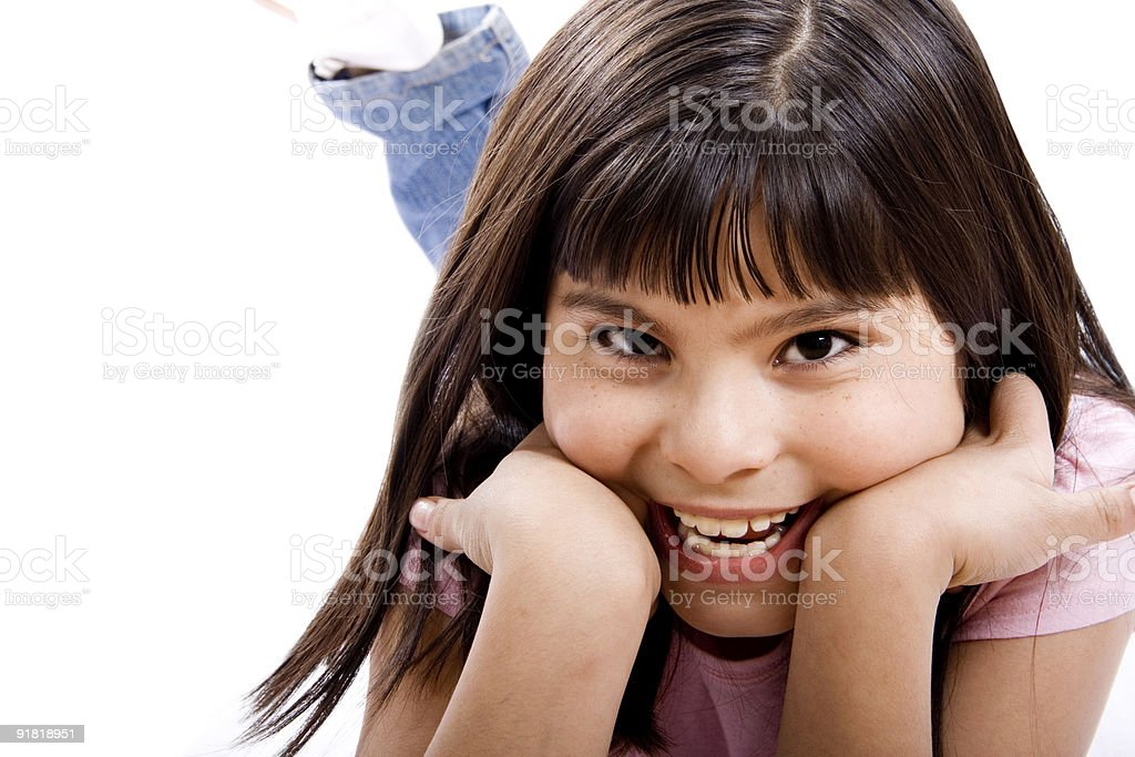 Cheerful girl stock photo