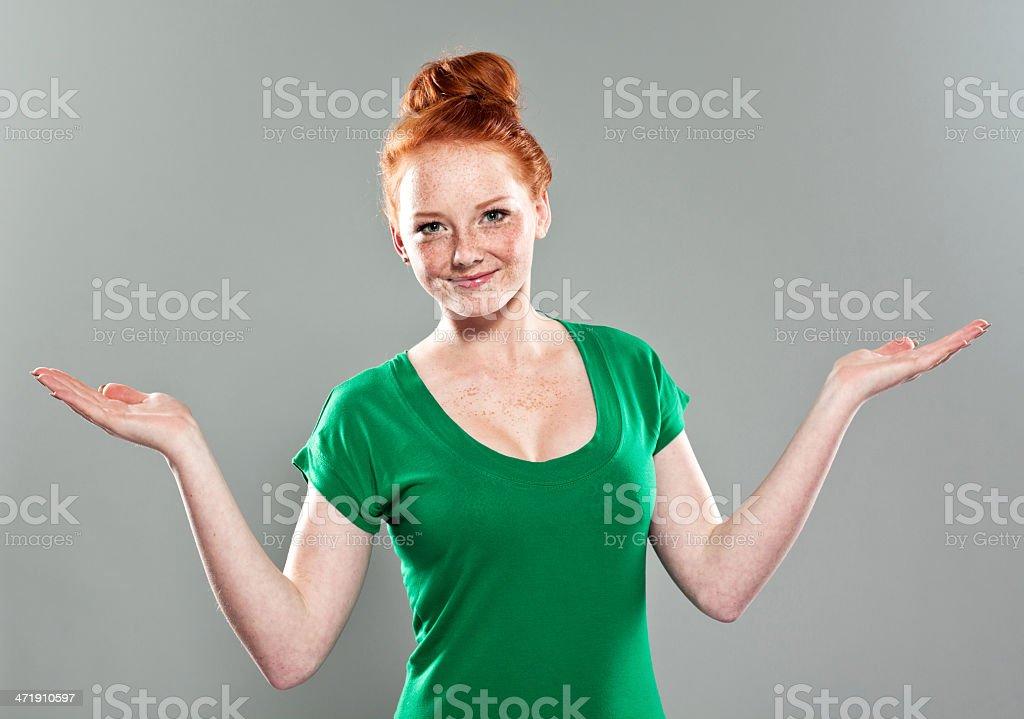Joyeuse fille Portrait en Studio - Photo