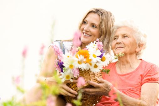 144362548 istock photo Cheerful granddaughter hugging her grandmother 149134052