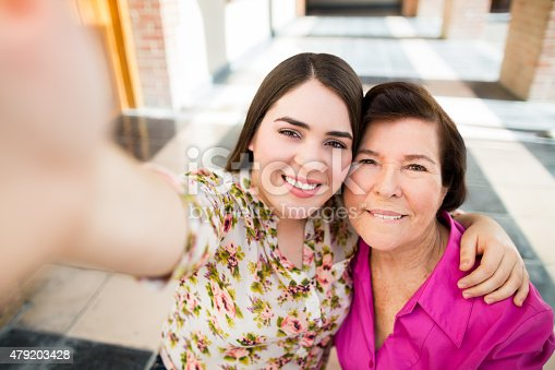 144362548istockphoto Cheerful grandmother and granddaughter 479203428