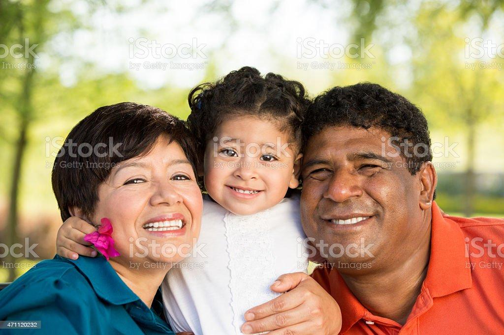 Alegre abuelos - foto de stock