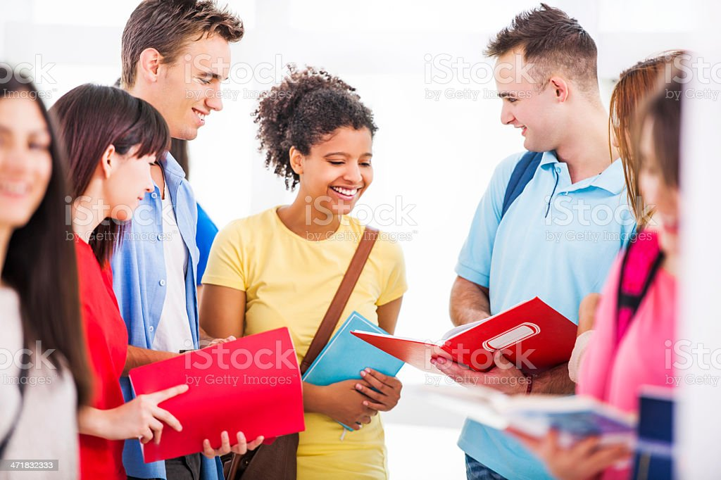 Cheerful group of students. royalty-free stock photo