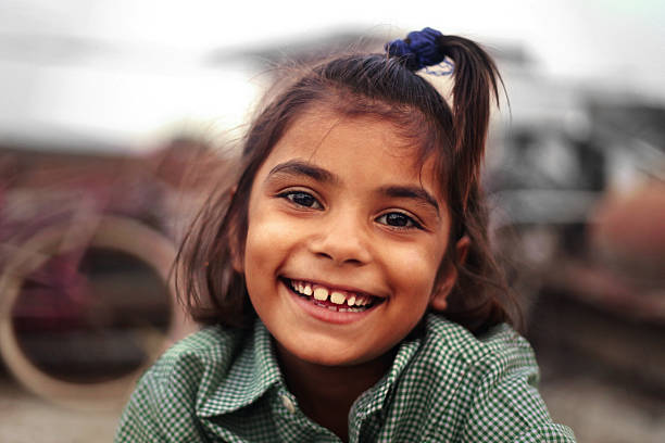 cheerful happy girl - india foto e immagini stock