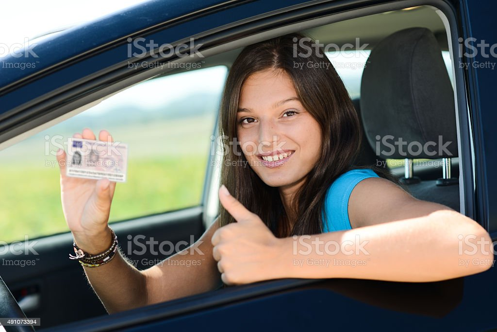 Showing Happy Of Stock Istock Woman - In Photo 2015 More License Cheerful New Driving Young Car amp; Pictures