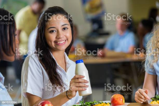 Cheerful hispanic private high school student in cafeteria picture id641510094?b=1&k=6&m=641510094&s=612x612&h=ef p8urszcrjcdfujzvd qpolx5m0 e  nbw fvh7t4=
