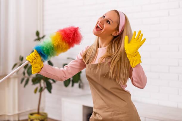 Fröhliche Hausfrauenreinigung – Foto