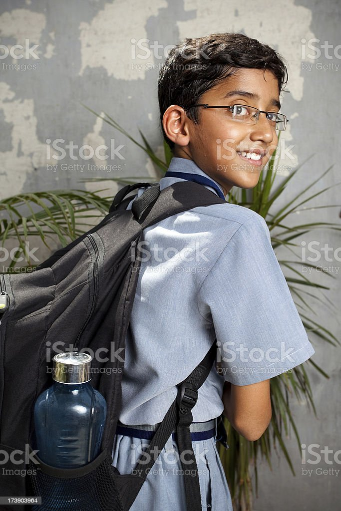 Cheerful Indian School Boy royalty-free stock photo