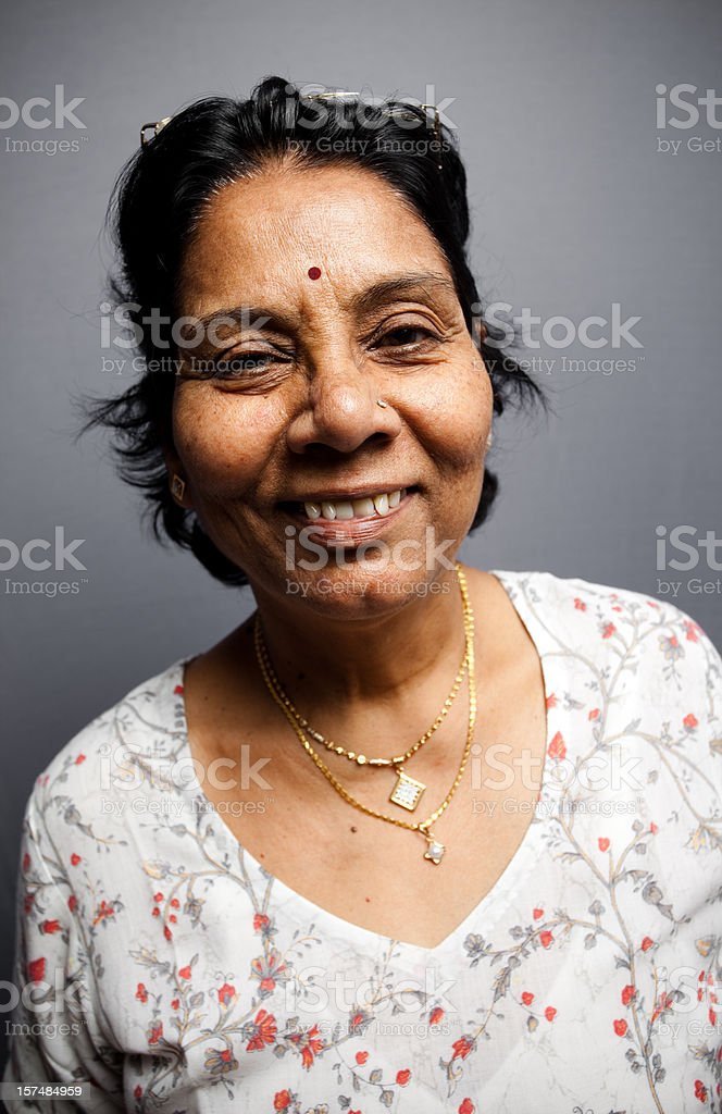 Cheerful Indian Senior royalty-free stock photo