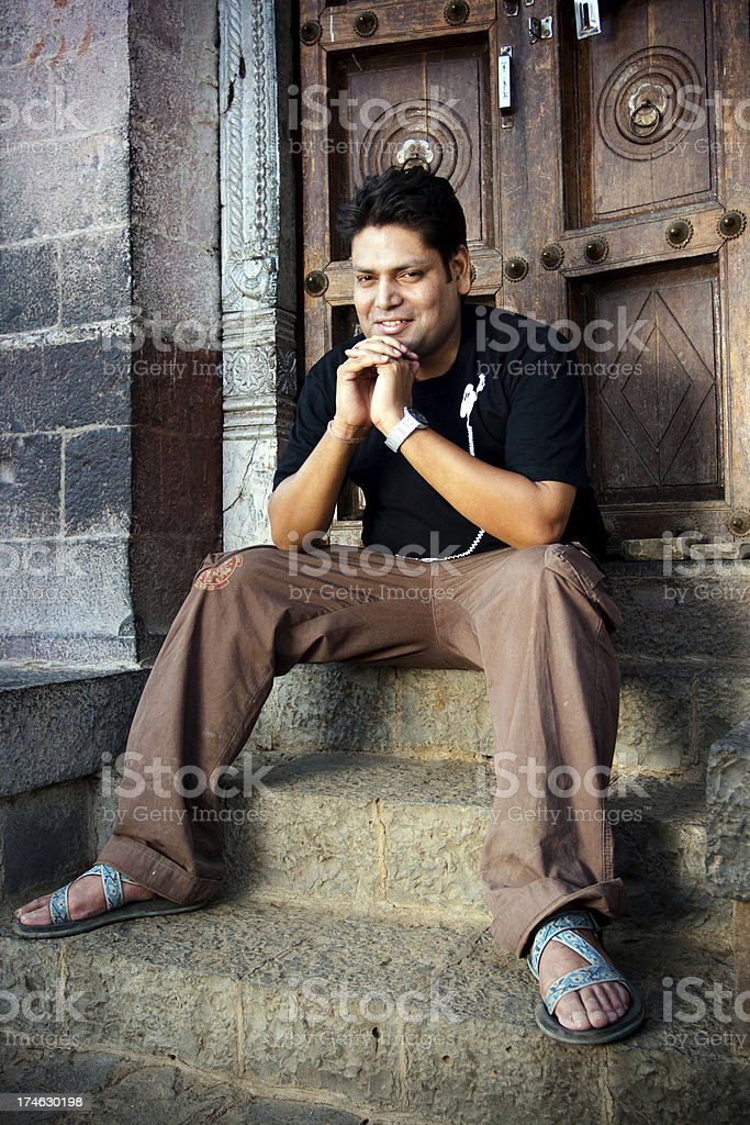 Cheerful Indian Youth in a village royalty-free stock photo
