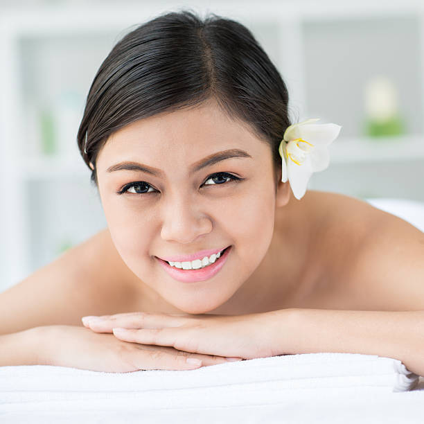 Beautiful Naked Woman Is Lying And Looking. Stock Image