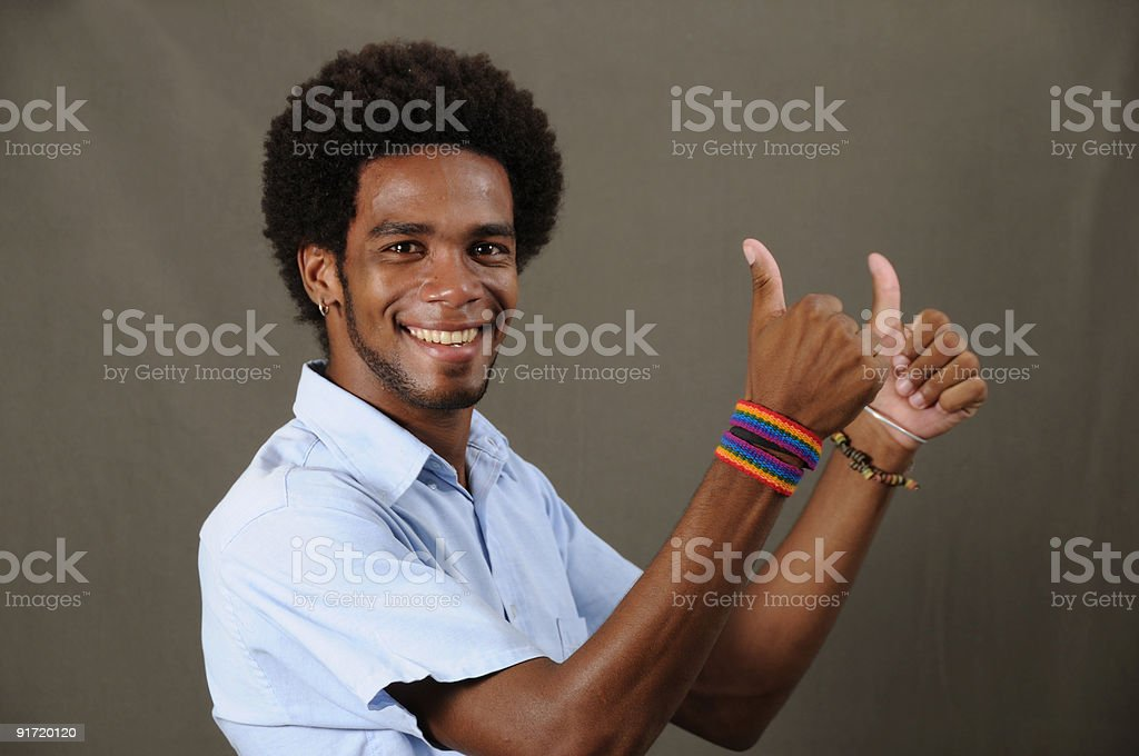 Cheerful latino man royalty-free stock photo