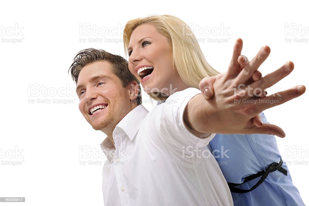 Cheerful laughing couple royalty-free stock photo