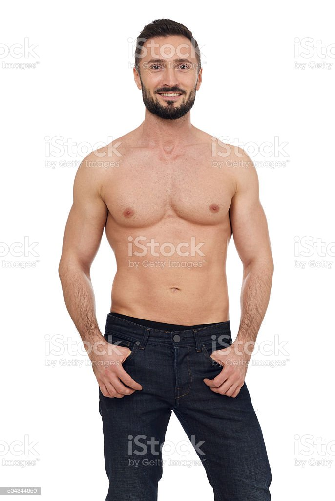 Cheerful man stock photo