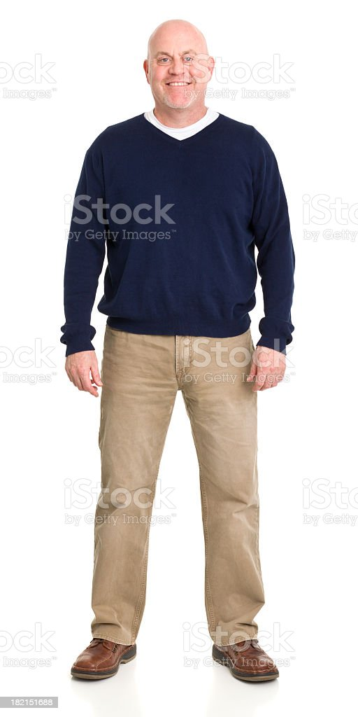 Cheerful Man Standing Portrait royalty-free stock photo