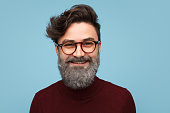 istock Cheerful man with glittering beard 939148828