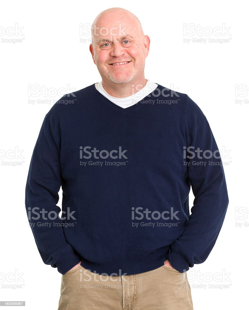 Cheerful Mature Man Portrait stock photo
