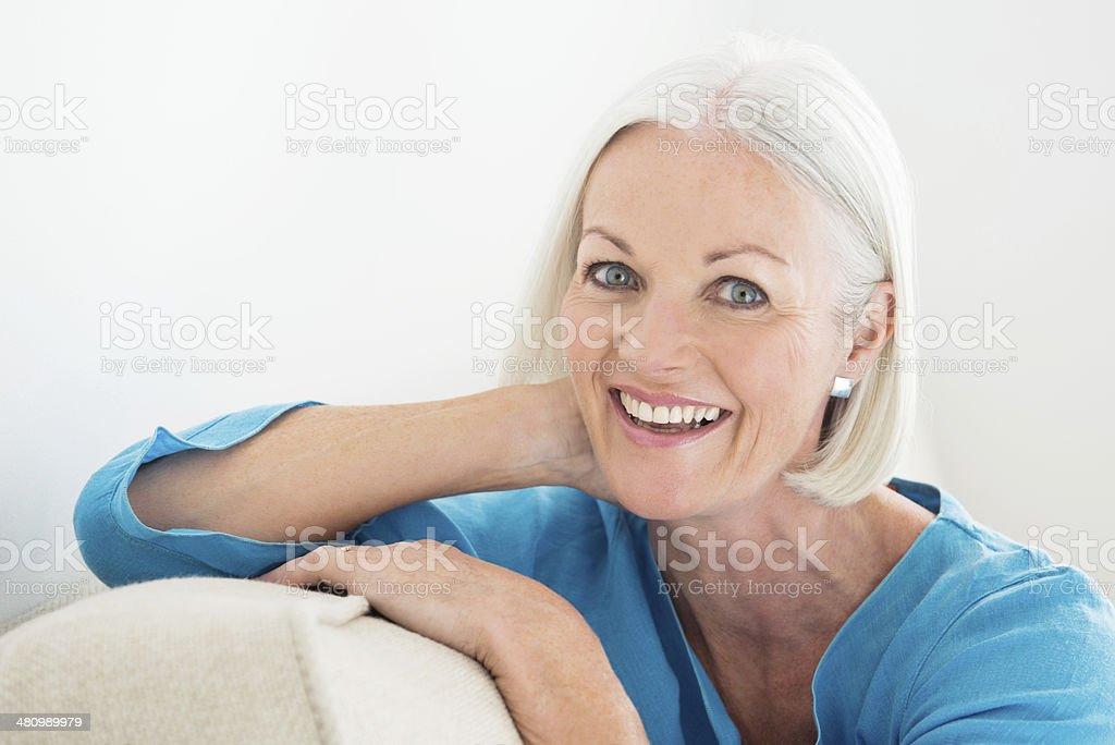 Cheerful Mature Woman Portrait stock photo