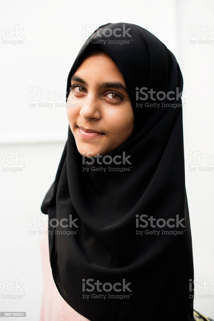A Cheerful Muslim Woman Stock Photo