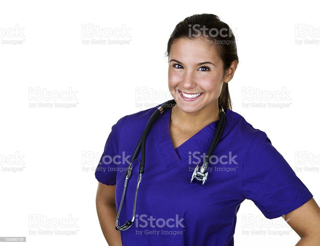 Cheerful Nurse royalty-free stock photo