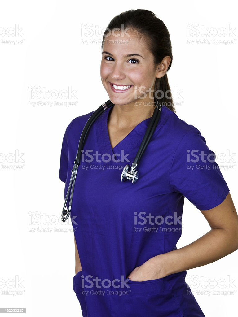 Cheerful nurse royalty-free stock photo