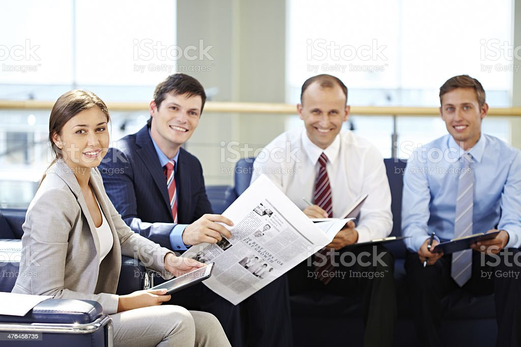 Cheerful office life royalty-free stock photo