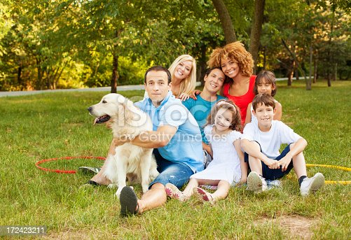 istock Cheerful Parents and children enjoy outdoors 172423211